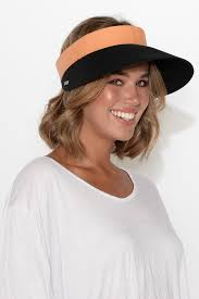 Audrey Black Wide Brim Travel Visor – Blue Bungalow