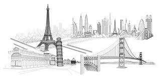 Architectural drawings of famous buildings Sketch Empire Famous Buildings Vector Download Free Vectorpsdflashjpgwwwhereisfreecom Leaning Tower Of Pisa Building Keyword Vector Line Drawing Line