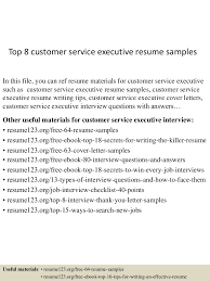 Resume For Customer Care Executive Free Resume Example And