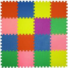 16 piece large puzzle foam tile soft mat child u0026 baby room safe playmat multi color