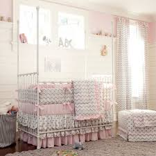 chevron baby girl crib bedding sets