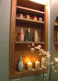 Recessed Shelves Bathroom How To Build A Modern Bamboo Medicine Cabinet Hgtv