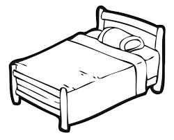 bed clip art black and white  clipart panda  free clipart images
