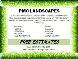 Sample Flyers For Landscaping Business Landscaping Flyer Template Powerpoint Lawn Care Lawn Care