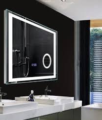 High Class Bathroom Led Lighting Wall Mirrors With Digital Clock