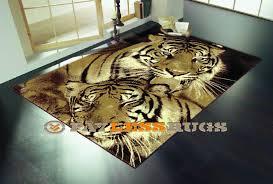wildlife tigers modern rug 160cm x 220cm tigers large