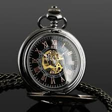 watch picture more detailed picture about ess men s stainless ess men s stainless steel case black dial hand wind up r numerals mechanical pocket watch