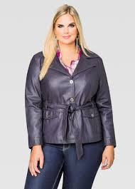 leather jackets plus size belted leather trench coat plus size faux leather jackets ashley