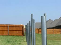 Metal Fence Post For Wood Fence These Are Aluminum Fence Posts