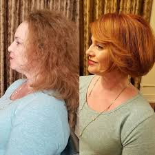 short hairstyle woman over 50 side