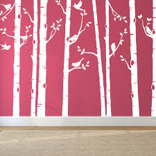 white tree wall stickers for nursery