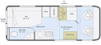 >travato floorplans winnebago rvs