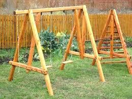 wooden swing set frame wood swing stands a frame swing set plans for home decor bracket