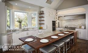 this walnut kitchen island countertop by grothouse was made for a client in michigan