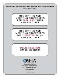 Osha Chart Osha Charts Tire Industry Association