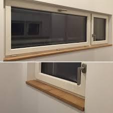 In Den Bädern Haben Wir Uns Für Fensterbänke In Eiche Passend Zu