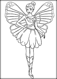 Mariposa Barbie Coloring Pages Print