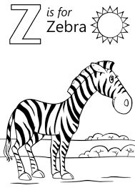 z is for zoo coloring page. Letter Is For Zebra Coloring Page In Zoo