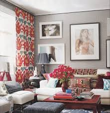 modern colorful living room curtain