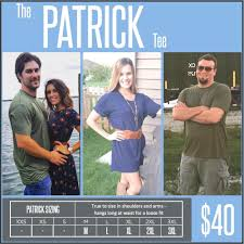 Lularoe Patrick T Size Chart The Patrick Tee From Lularoe Great For Both Men And Women