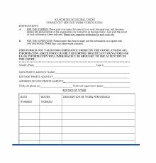 community service verification form for court community service letter 40 templates completion verification