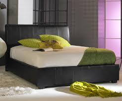 faux leather ottoman. Artisan Black Faux Leather Ottoman Bed Frame
