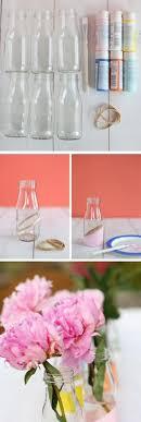 Milk Bottle Decorating Ideas simple sisal rope embellishement on vintage milk bottles at 53