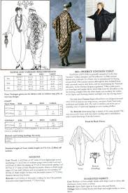 Poiret Cocoon Coat Pattern This Might Be A Good Base Fashion Kaftan Jacket Pattern