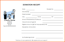 Donation Receipt Templates Receipt Template Charitable