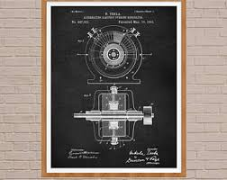 alternating current tesla. science poster, nicola tesla, alternating current, tesla print, physics poster current