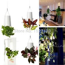 office planter. Wholesale-Home Garden Office Decor Sky Planter Hanging Plant Flower Pot Basket Upside Down Mini Baskets Retail Selling Online With $21.41/Piece