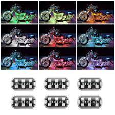Awesome 6x RGB LED Streifen Atmosphäre Licht Motorrad ATV Beleuchtung Neonlicht  Lampe