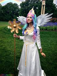 in my little pony friendship is magic princess celestia is the co ruler of equestria alongside her sister princess luna i had been dreaming of cosplaying