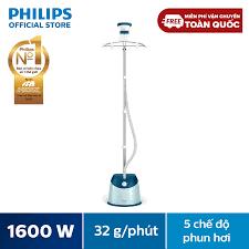 Giá bán | [Voucher 100k] Bàn Ủi Hơi Nước Đứng Philips GC518 (1600W) Xanh  Ngọc - Hàng phân phối chính hãng