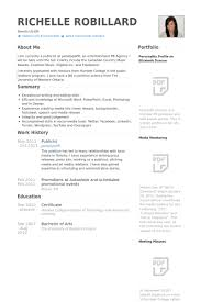 Publicist Resume samples
