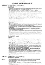Social Worker Resume Sample Medical Social Worker Resume Samples Velvet Jobs 43