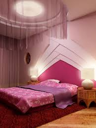 Pink Colors For Bedroom Comely Painting Bedroom With Pink White Colors And Circle Ceiling