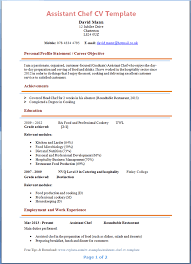 Chef Cv Template Cv Template Chef Uk