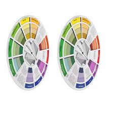 Details About 2x Coloring Matching Guide Color Wheel Mixing Chart For Blending Color Tool