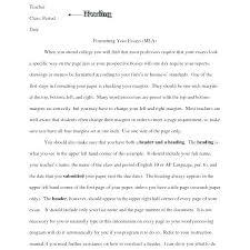 College Essay Paper Format College Essays Samples Essay Formats ...