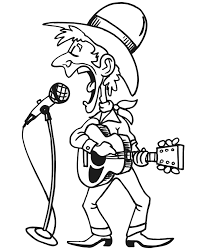 Small Picture Country Singer Coloring Page