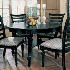 dining table round black dayri me
