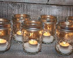 Hanging Mason Jar DIY Lids Lantern - Wide Mouth Silver Luminary Lids - Set  of 2