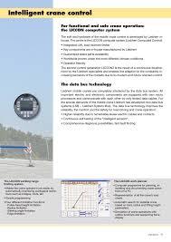 Liebherr Crane Load Chart Intelligent Crane Control The Data Bus Technology
