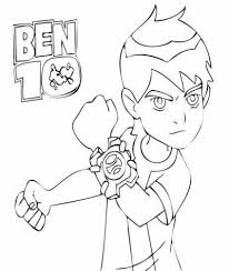 Il Bambino Ben 10 Disegno Da Stampare E Da Colorare Disegni Da