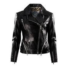impero london las black leather luxury silver multi zip biker jacket impero london from impero london uk
