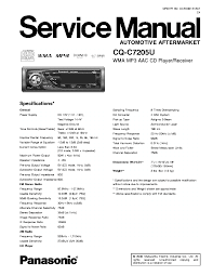 panasonic cq c1305u c1305l c1335u c1335l service manual panasonic
