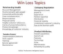 win loss analysis how to capture and keep the business you want  win loss topics big