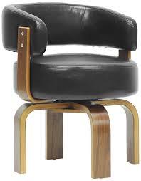 com baxton studio fortson modern accent chair walnut black kitchen dining