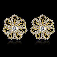 Diamond Earrings Traditional Designs Szelam Low Luxury Crystal Stud Earrings For Women Fashion